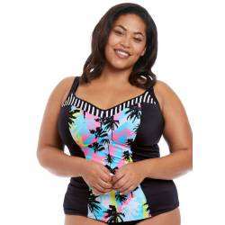 Top de tankini ajustable Malibu Days de Elomi frente