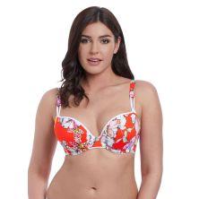 Top de bikini Deco Wild Flower de Freya rojo chica