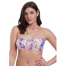 Top de bikini bandeau twist preformado Indio de Freya blanco chica