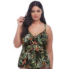 Top de tankini ajustable Amazonia de Elomi verde chica