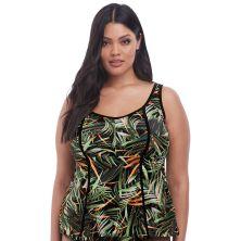Top de tankini Amazonia de Elomi verde chica