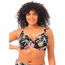 Top de bikini plunge Dark Tropics de Elomi